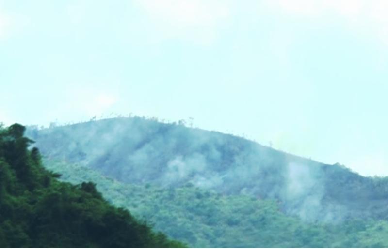 Đốt rẫy gây cháy rừng, cả trăm người trèo núi dập lửa  - ảnh 1