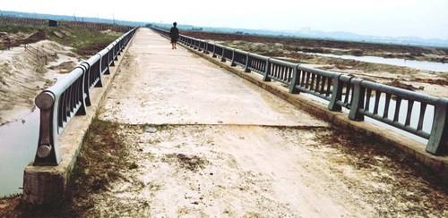 Cầu 12 nhịp lộ 'cốt xốp': Sở Xây dựng Hà Tĩnh gọi là sự cố - ảnh 1