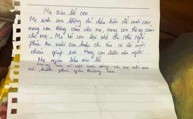Mẹ bỏ rơi con cùng tờ giấy ghi dòng chữ 'mẹ ngàn lần xin lỗi' - ảnh 2