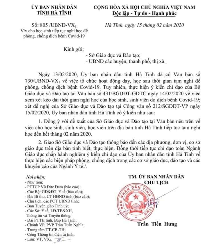 Nghệ An và Hà Tĩnh cho học sinh nghỉ học đến cuối tháng 2 - ảnh 1