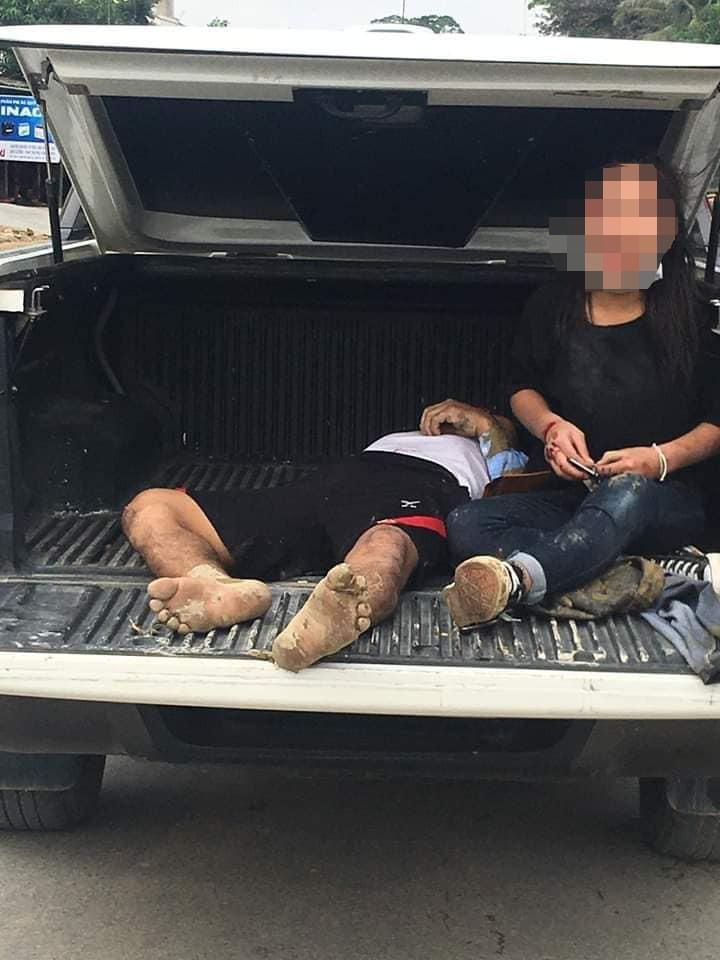 Chạy xe máy đưa cơm đến viện cho vợ, 2 cha con bị nạn - ảnh 2