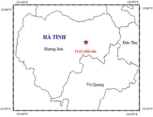 Xảy ra động đất trong đêm ở miền núi Hà Tĩnh - ảnh 1