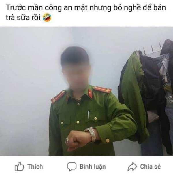 Đăng ảnh mặc đồ cảnh sát lên Facebook, bị phạt 1 triệu  - ảnh 1