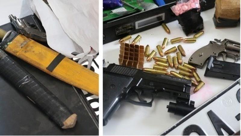 Cảnh sát bắt kẻ mua bán ma túy thủ súng đã lên đạn - ảnh 1