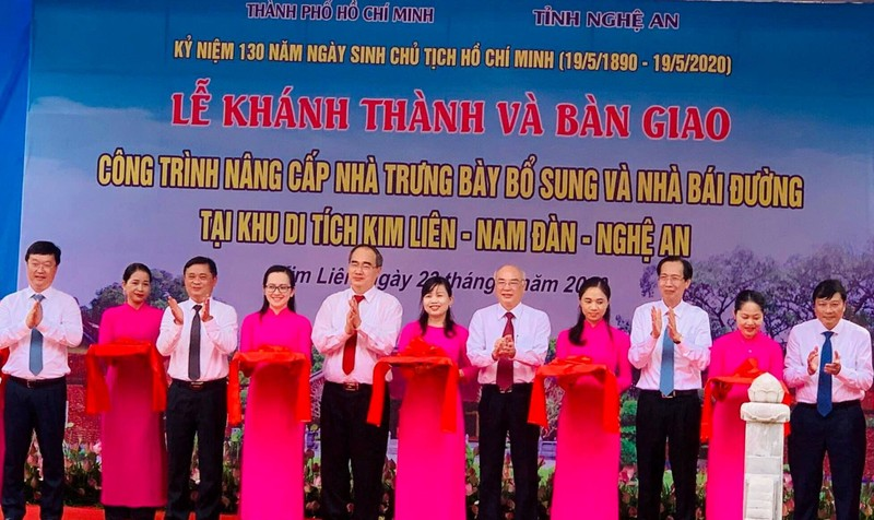 TP.HCM và Nghệ An khánh thành 2 công trình ở quê hương Bác  - ảnh 1