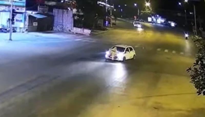 Bắt tạm giam người lái xe tông Thượng úy cảnh sát giao thông - ảnh 1