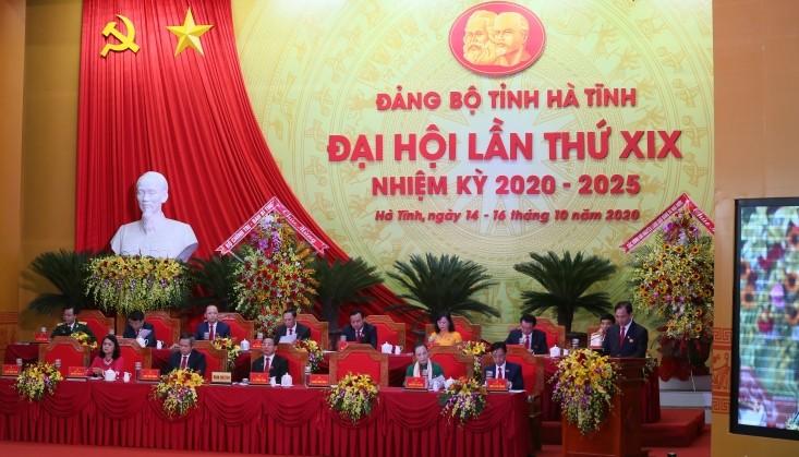 Công bố kết quả nhân sự Đại hội Đảng bộ Hà Tĩnh khóa XIX - ảnh 1