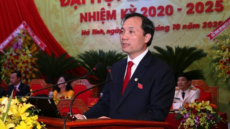 Công bố kết quả nhân sự Đại hội Đảng bộ Hà Tĩnh khóa XIX - ảnh 2