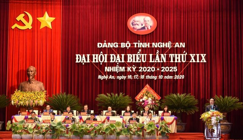 Thủ tướng Nguyễn Xuân Phúc dự Đại hội Đảng bộ tỉnh Nghệ An - ảnh 3