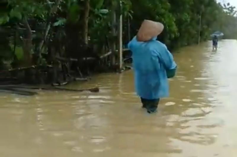 Hà Tĩnh  mưa lớn, nhiều nhà bị ngập, lên phương án sơ tán dân - ảnh 3
