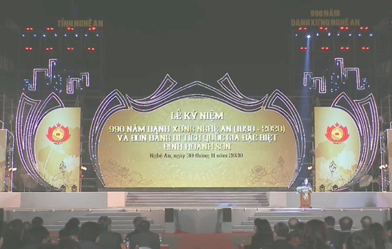 Long trọng kỷ niệm 990 năm danh xưng Nghệ An - ảnh 1