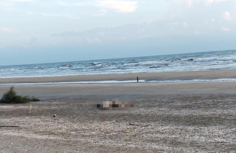 Tìm thân nhân người đàn ông tử vong, trôi dạt vào bờ biển Hà Tĩnh - ảnh 1