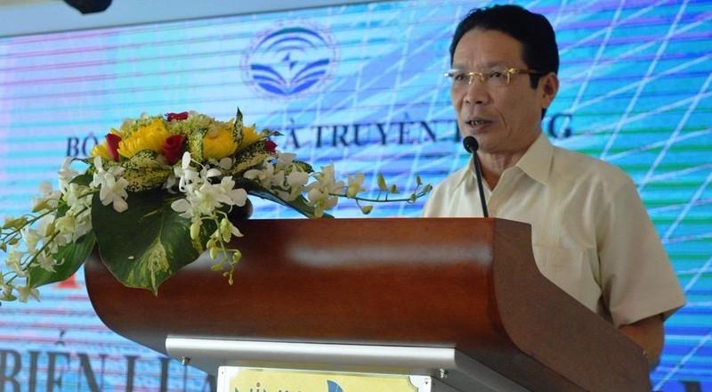 Thứ trưởng Hoàng Vĩnh Bảo phát biểu kha mạc hội nghị, ảnh GIA TUỆ