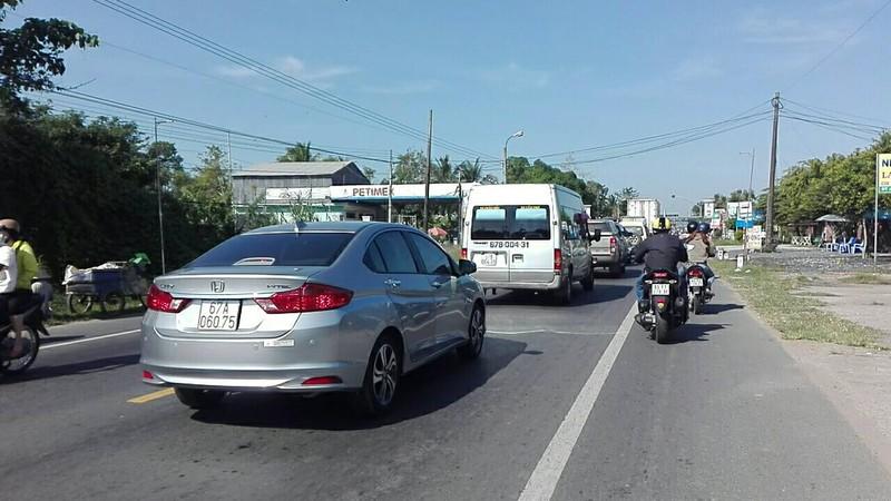 Tài xế phản ứng trạm T1 BOT quốc lộ 91 Cần Thơ  - ảnh 1