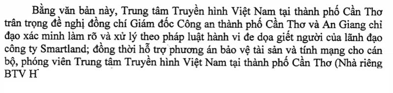 VTV tại Cần Thơ đề nghị công an bảo vệ nhà báo sợ truy sát - ảnh 1