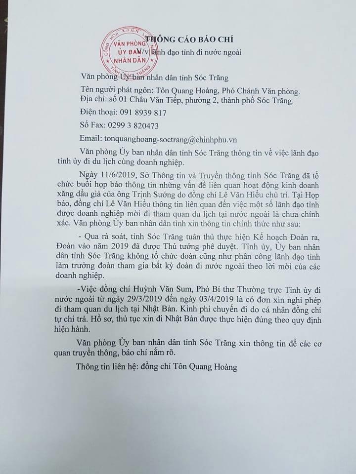 Vụ đại gia Trịnh Sướng: Phó Bí thư Sóc Trăng lên tiếng - ảnh 5