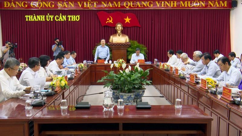 Bộ Chính trị triển khai quyết định kiểm tra tại TP Cần Thơ - ảnh 1