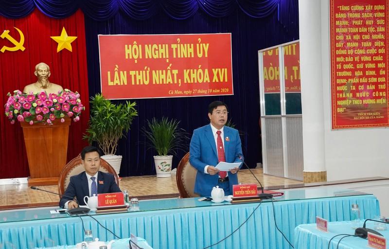 Ông Nguyễn Tiến Hải tái đắc cử Bí thư Tỉnh uỷ Cà Mau - ảnh 2