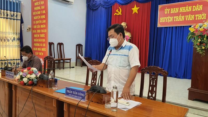 Chủ tịch UBND huyện Trần Văn Thời: 'Tiêu hủy đàn chó là cần thiết để chống dịch' - ảnh 1