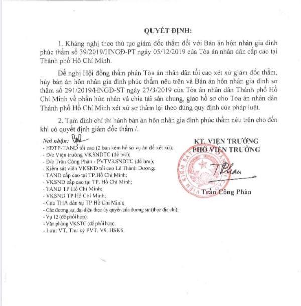 Viện Tối cao kháng nghị hủy án vụ ly hôn vợ chồng Trung Nguyên - ảnh 2