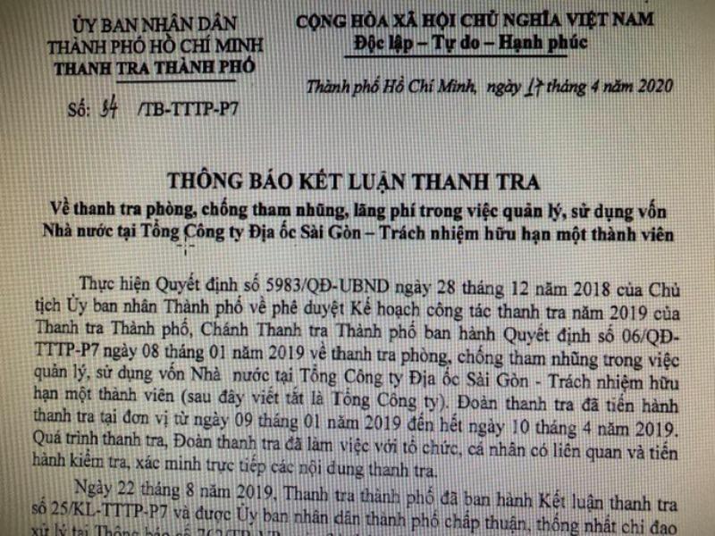Nhiều sai phạm tại Công ty Địa ốc Sài Gòn - ảnh 2