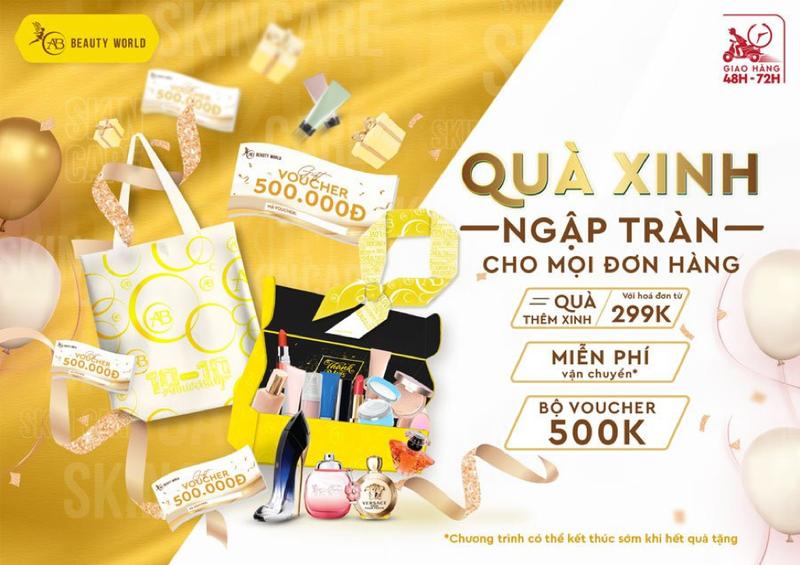 Mỹ phẩm chính hãng sale đồng giá từ 1.000 đồng mừng sinh nhật AB Beauty World - ảnh 2