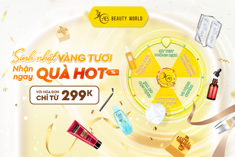 Mỹ phẩm chính hãng sale đồng giá từ 1.000 đồng mừng sinh nhật AB Beauty World - ảnh 3
