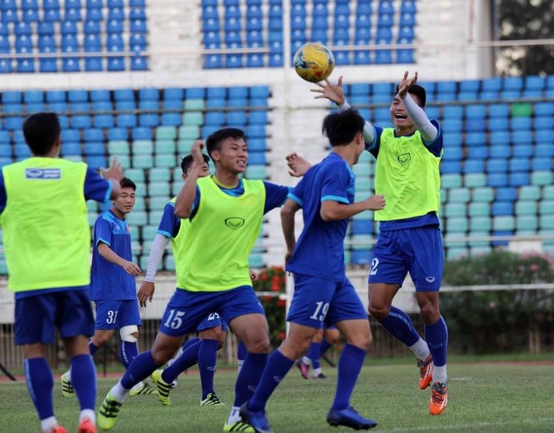 Những buổi tập cuối cùng của đội tuyển Việt Nam luôn ngập tràn tiếng cười