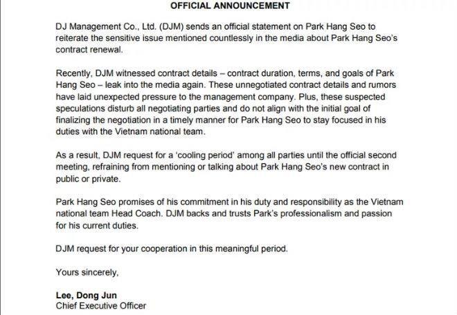 Đại diện ông Park tạm dừng đàm phán hợp đồng vì loạn thông tin - ảnh 3