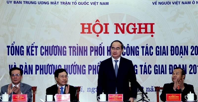 Ông Nguyễn Thiện Nhân, Chủ tịch UB Trung ương MTTQ Việt Nam