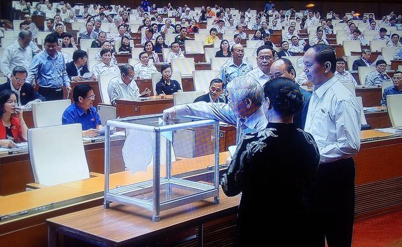 Bỏ phiếu kín miễn nhiệm hai thành viên Chính phủ - ảnh 4