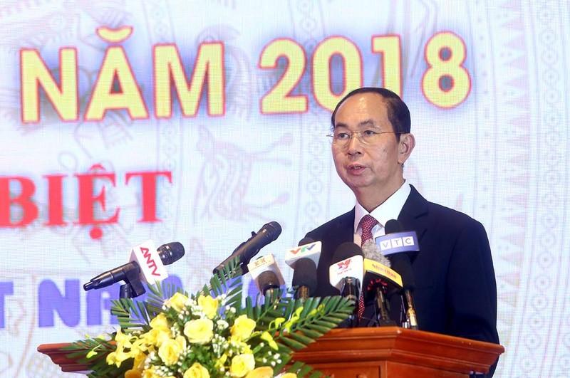 Chủ tịch nước dự lễ công bố Sách vàng sáng tạo 2018 - ảnh 1