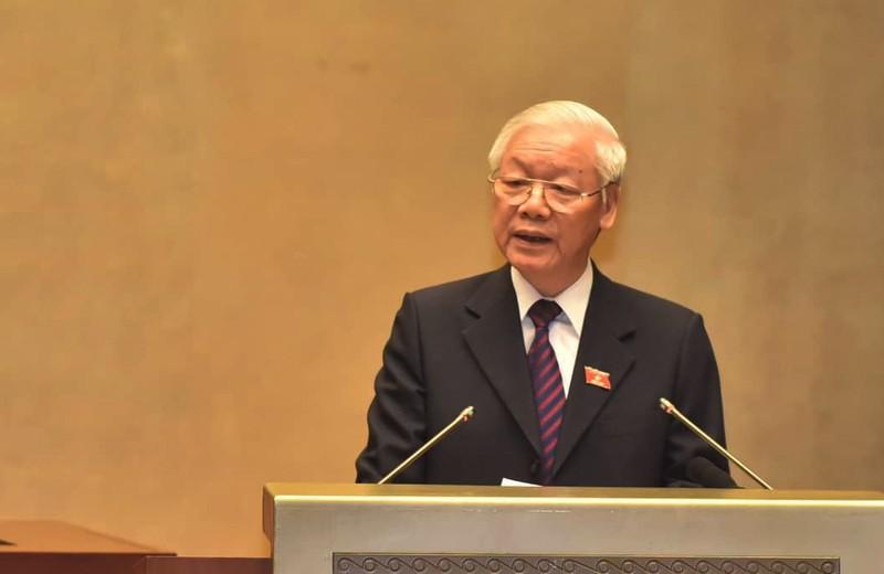 Chủ tịch nước Nguyễn Phú Trọng trình bày Hiệp định CPTPP ở QH - ảnh 1