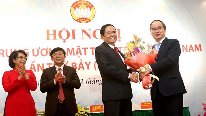 Ông Trần Thanh Mẫn tái đắc cử chủ tịch UBTW MTTQ Việt Nam - ảnh 1