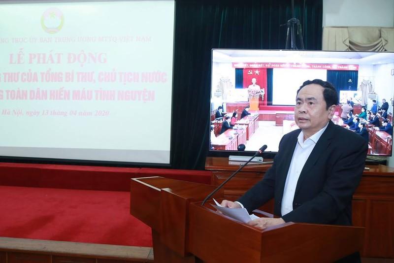 Mặt trận Tổ quốc Việt Nam ra lời kêu gọi hưởng ứng hiến máu - ảnh 1