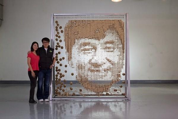 Ngỡ ngàng với chân dung Thành Long được làm từ 64.000 chiếc đũa - ảnh 7