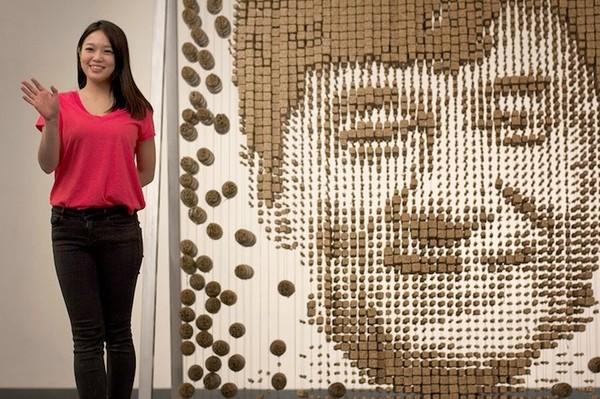 Ngỡ ngàng với chân dung Thành Long được làm từ 64.000 chiếc đũa - ảnh 12