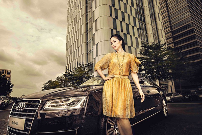 """Linh Nga """"múa"""" trong xe sang nhất của Audi tại Việt Nam - ảnh 14"""