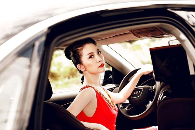 """Linh Nga """"múa"""" trong xe sang nhất của Audi tại Việt Nam - ảnh 7"""