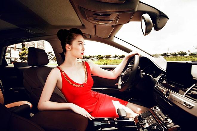 """Linh Nga """"múa"""" trong xe sang nhất của Audi tại Việt Nam - ảnh 8"""