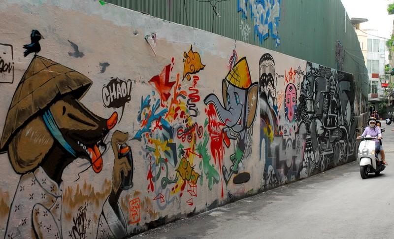 Chùm ảnh: Có một hẻm Graffiti như nước ngoài tại Sài Gòn - ảnh 1