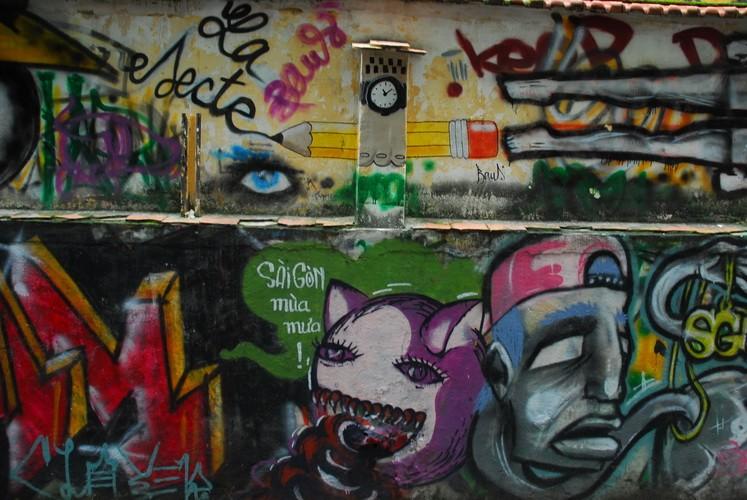 Chùm ảnh: Có một hẻm Graffiti như nước ngoài tại Sài Gòn - ảnh 5