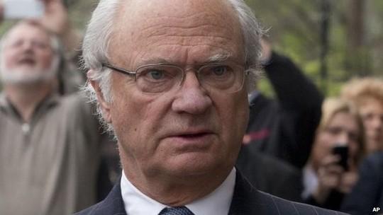 File photo: King Carl XVI Gustaf, 5 April 2014