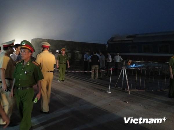 Tai nạn giao thông đường sắt nghiêm trọng ở huyện Vụ Bản - ảnh 1