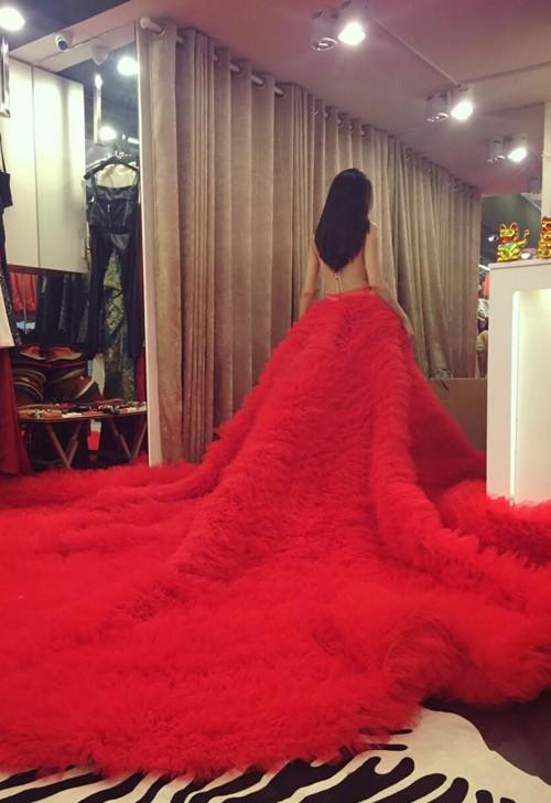 Thủy Tiên sẽ mặc váy cưới đuôi dài 7-8 mét cực cầu kỳ - ảnh 5