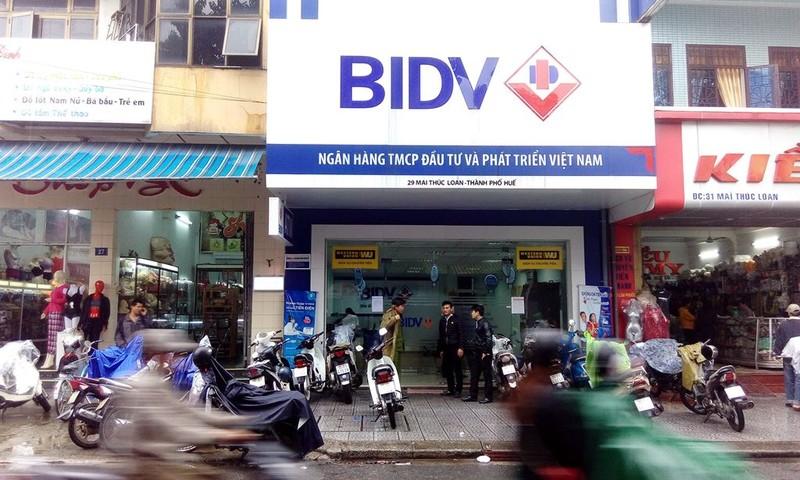 Chi nhánh BIDV bị cướp. Ảnh: Nguyễn Do