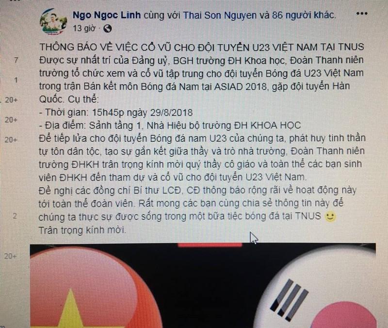 Người hâm mộ nghĩ đủ kiểu cổ vũ Olympic Việt Nam - ảnh 7