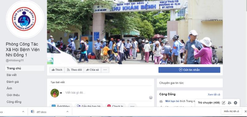 Cảnh giác với Fanpage giả mạo Bệnh viện Nhi Đồng I - ảnh 1