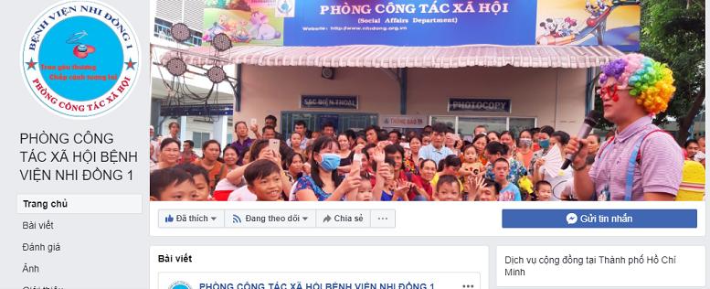 Bị giả mạo, Bệnh viện Nhi Đồng I lập Fanpage chính thức - ảnh 1