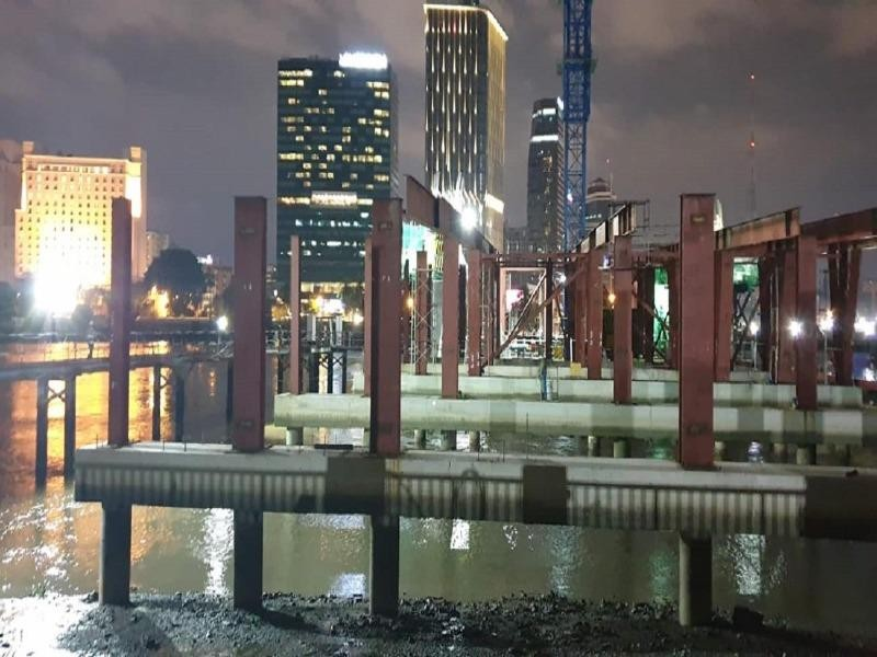 Cầu Thủ Thiêm 2 thi công xuyên đêm - ảnh 2